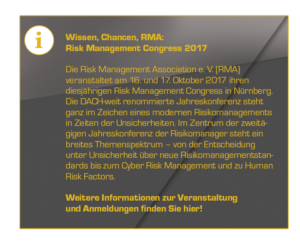 Risikomanagement-Ausbildung von der RMA, Risk Management Congress 2017