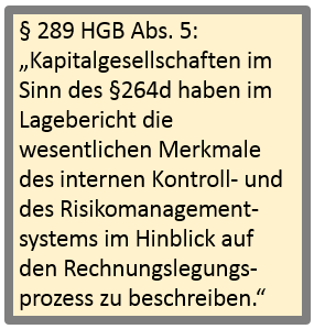 Risikomanagement Regelungen, §289 HGB, Abs. 5